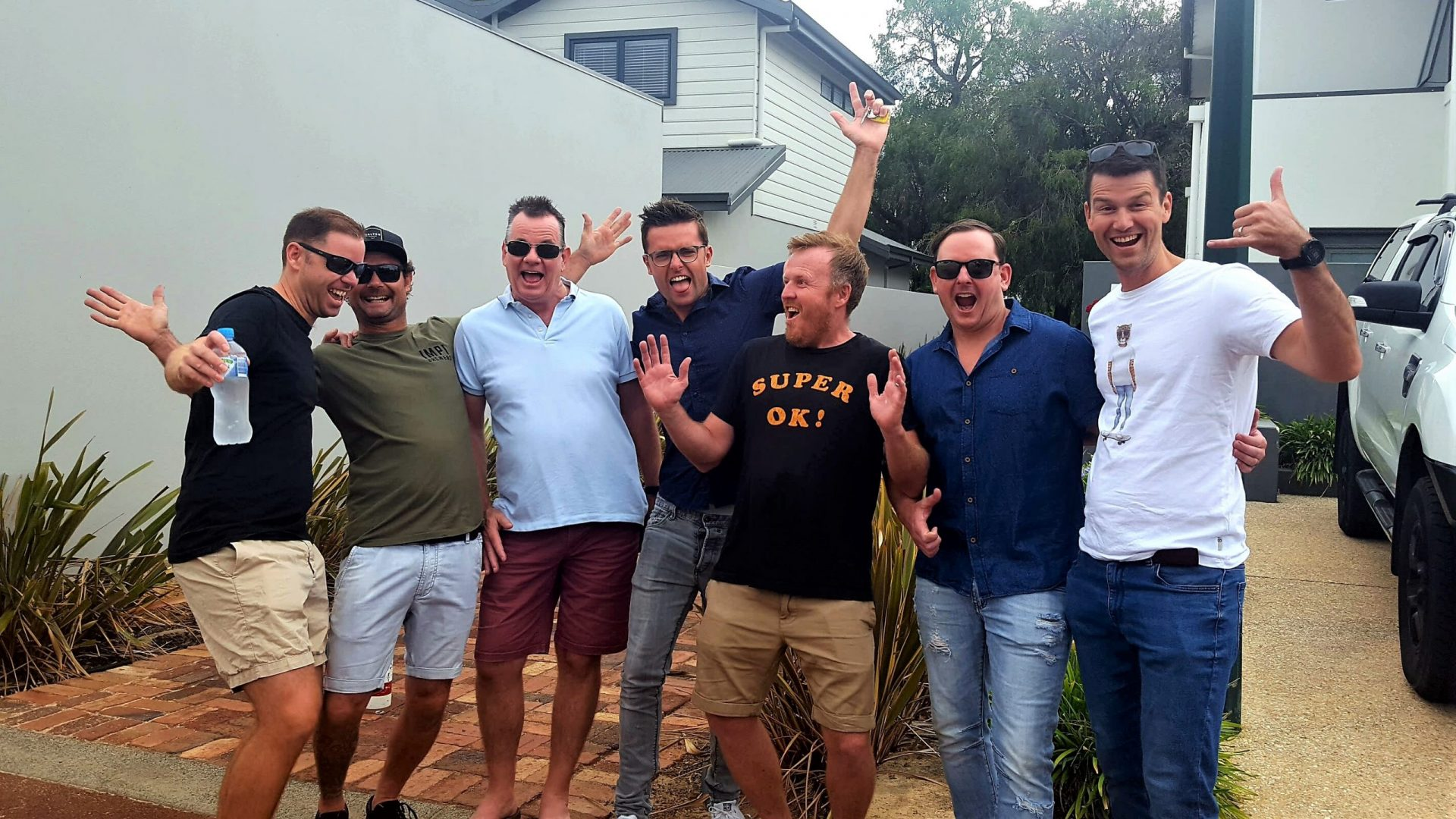 Men's group guided day tour of from Dunsborough to Margaret River's wine region.